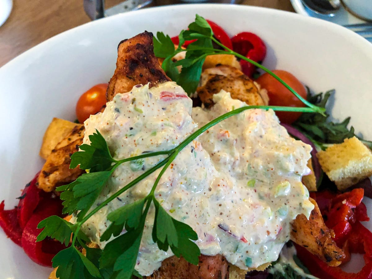 cajun chicken salad at the Skerries Mills cafe