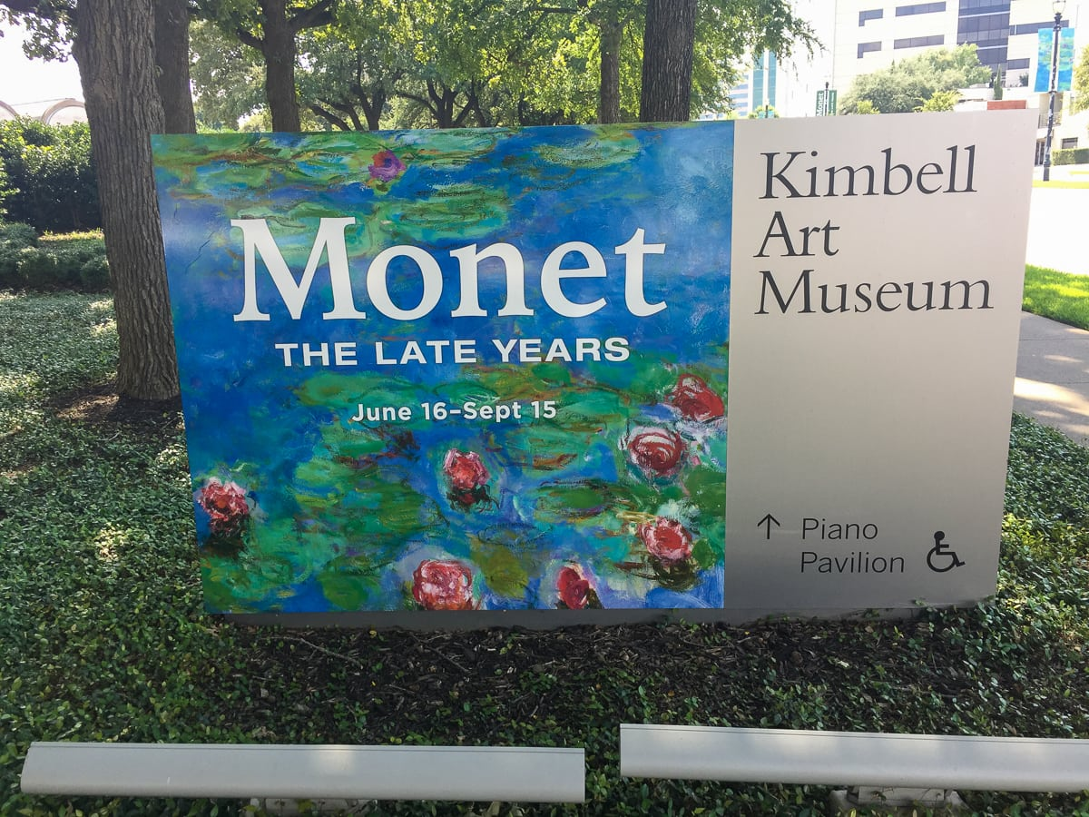 Monet at the Kimbell Art Museum in Ft Worth