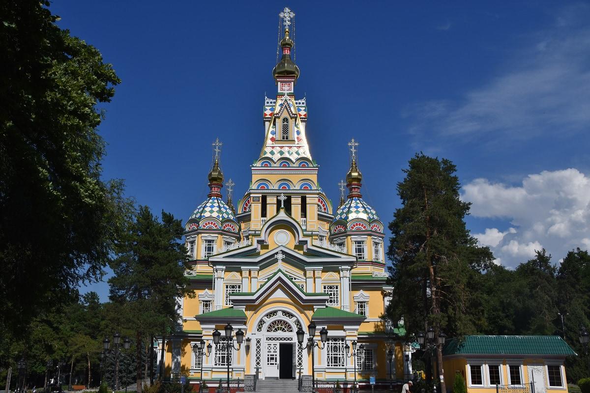 Zhenkov Cathedral in Almaty, Kazakhstan