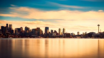 Seattle Waterfront and skyline
