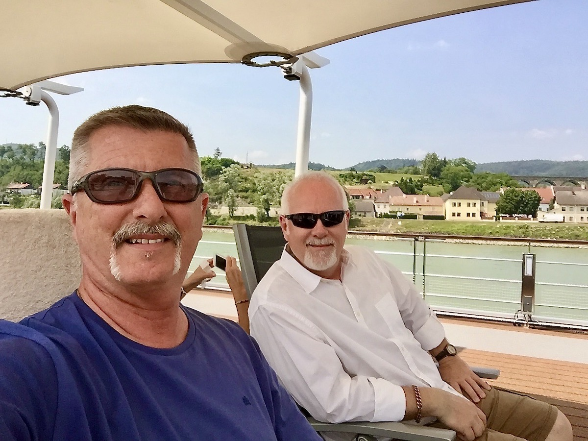 Howard and Jerry on Viking river cruise