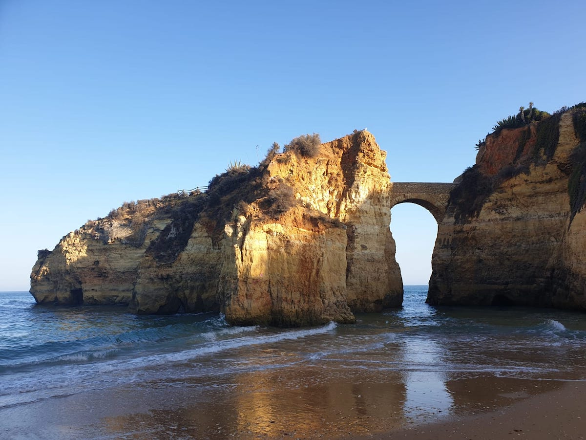 Perfect day in lagos portugal - roman bridge