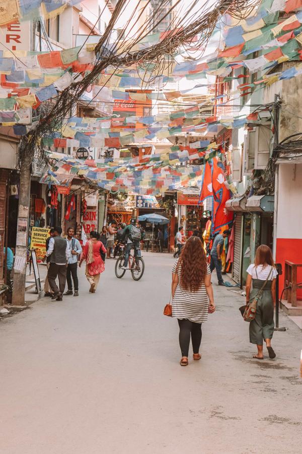 Thamel Street in Kathmandu