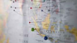 student travel on a budget map