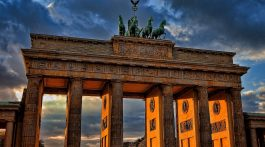 Brandenburg Gate, one of Berlin's most iconic tourist attractions.