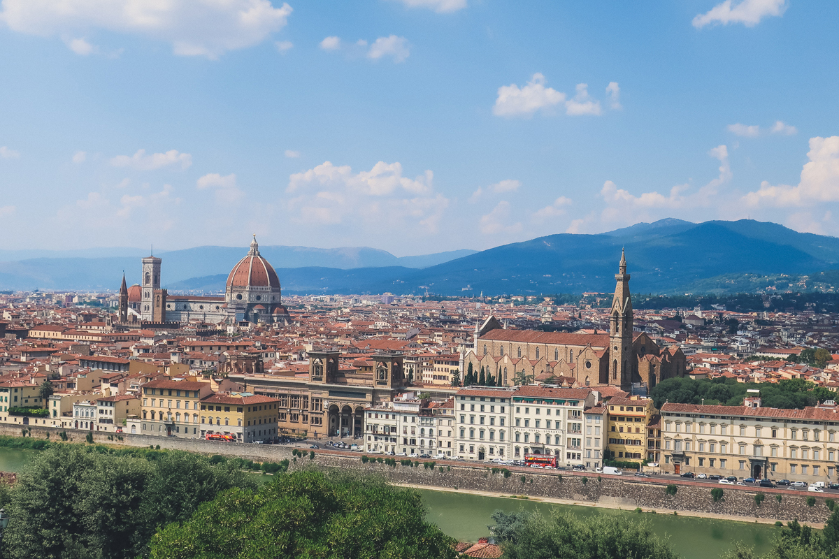 panoramic views from Michelangelo Square in Florence