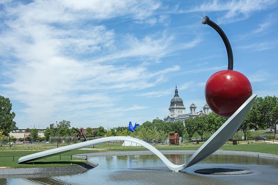 giant spoon and cherry Minneapolis