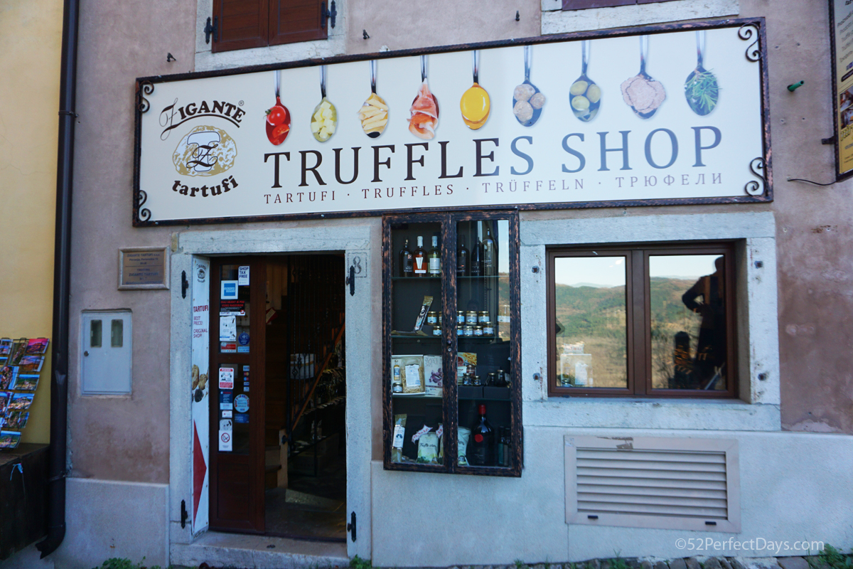 Truffle Shop in Croatia
