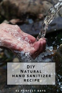 DIY hand sanitizer recipe. It's really simple to make homemade hand sanitizer for travel. A few simple ingredients and you have natural hand sanitizer.