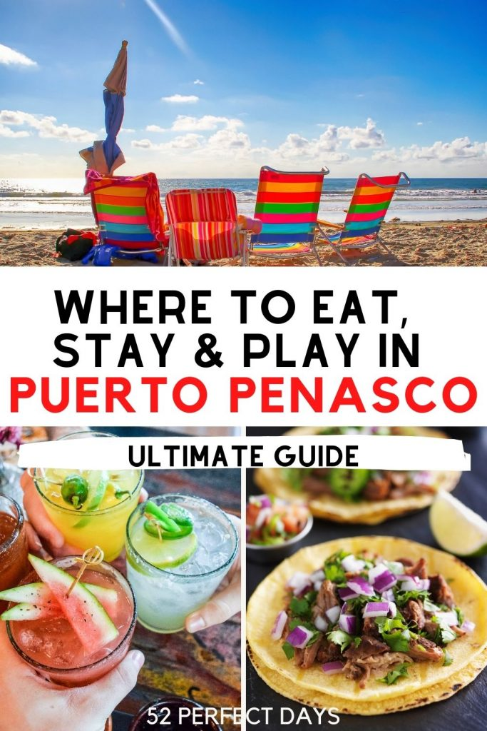 Ultimate guide for where to Eat, Play & Stay in Puerto Peñasco, Mexico (also known as Rocky Point). Discover the best restaurants in Puerto Penasco, best hotels and resorts in Puerto Penasco, the best beaches and more. Here's everything you need to know for a fabulous Puerto Penasco vacation in Mexico | What to do in Puerto Penasco | Puerto Penasco Travel Guide | Puerto Peñasco Travel | Best things to do in Rocky Point | Things to do in Rocky Point Mexico