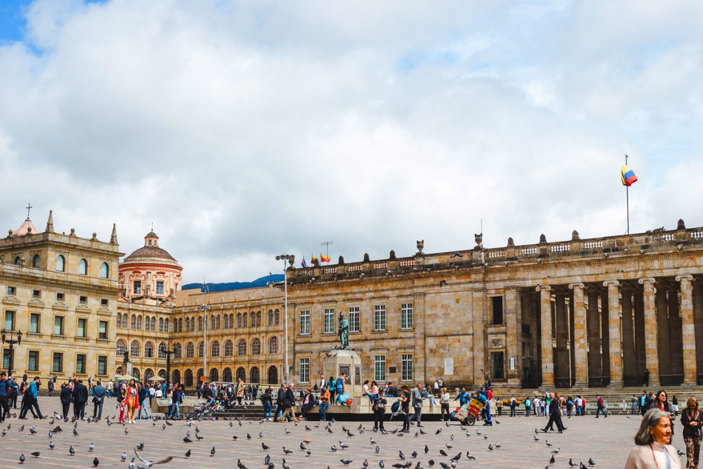 plaza in Bogota