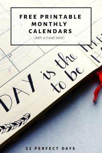 printable monthly travel calendars