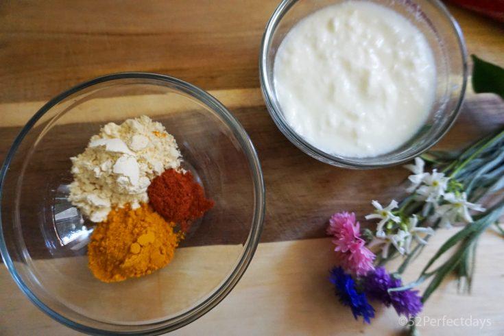 Turmeric yogurt face mask photo
