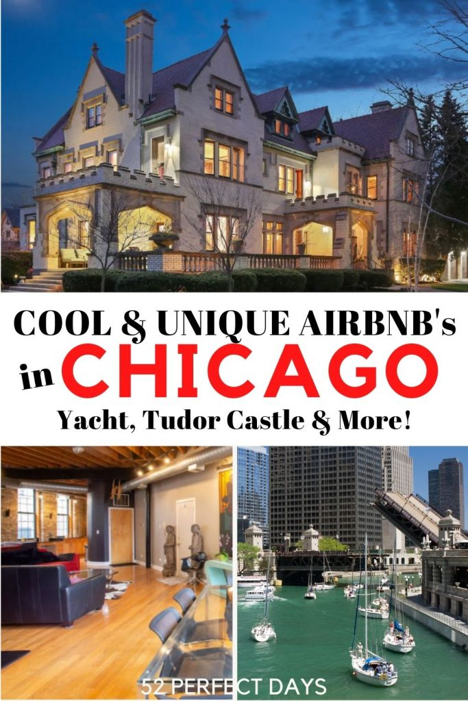Airbnbs in Chicago. The best Airbnbs in Chicago, Illinois including a yacht with a city view, a Tudor castle, a home designed by architect Frank Lloyd Wright and a 1904 former factory turned into a loft. | Best Chicago Airbnbs| Where to stay in Chicago | Choose Chicago | Visit Chicago| Where to stay for a Chicago Vacation