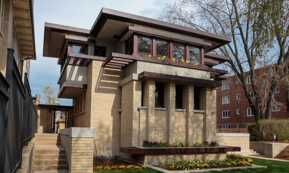 Emil Bach House in Chicago designed by Frank Lloyd Wright