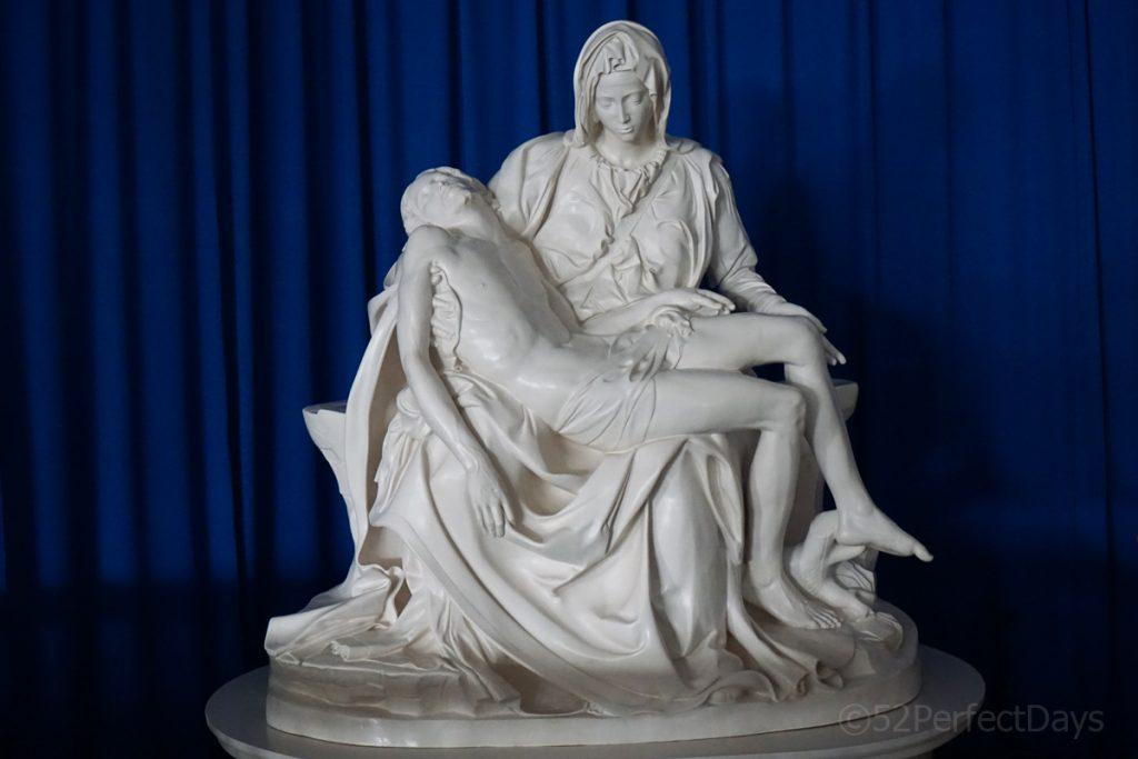 """Michaelangelo's sculpture, """"La Pieta."""""""
