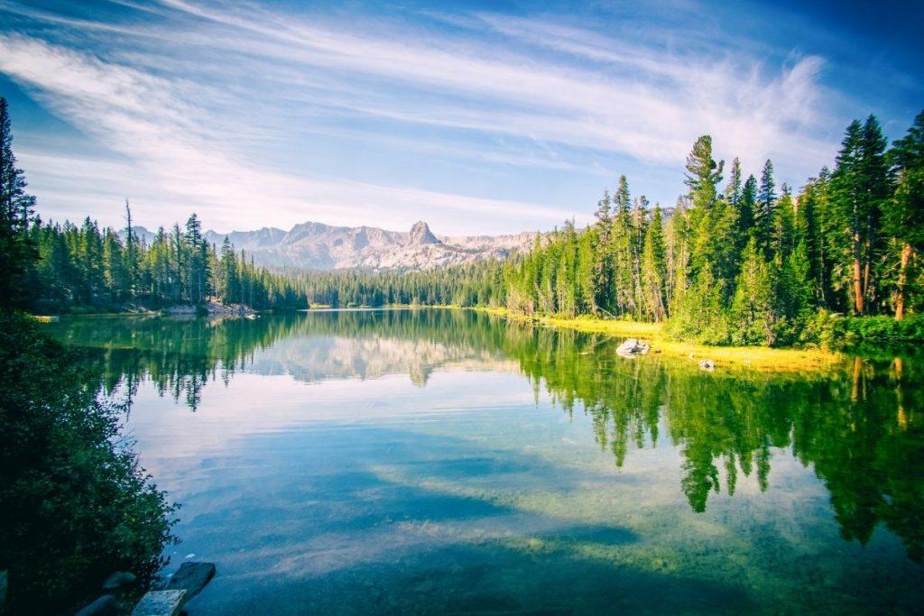 Crystal Lake in Mammoth, CA