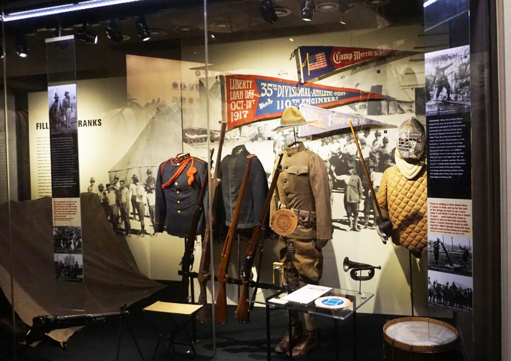 QQ1 Military uniforms on display at museum in Kansas City