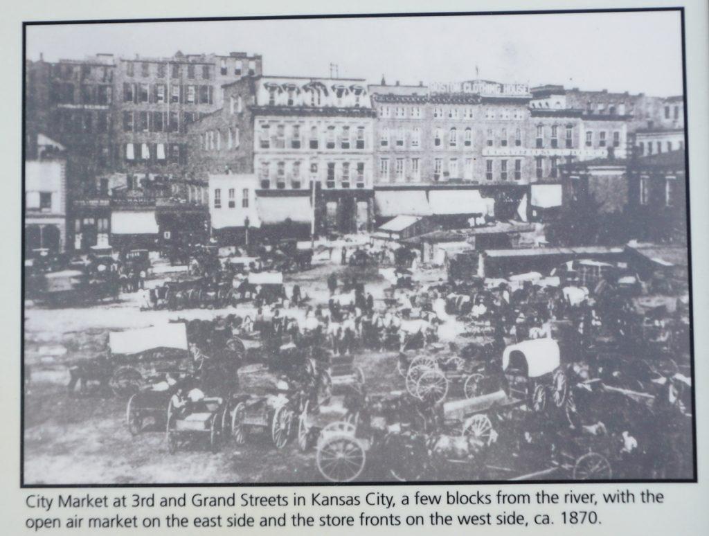 City Market in Kansas City photo from 1870