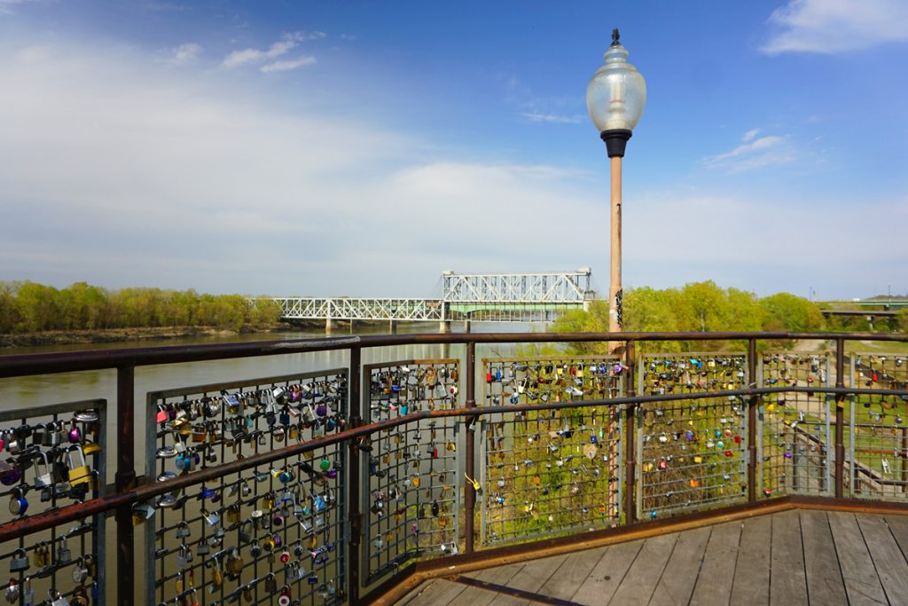 View of Missouri River in Kansas City
