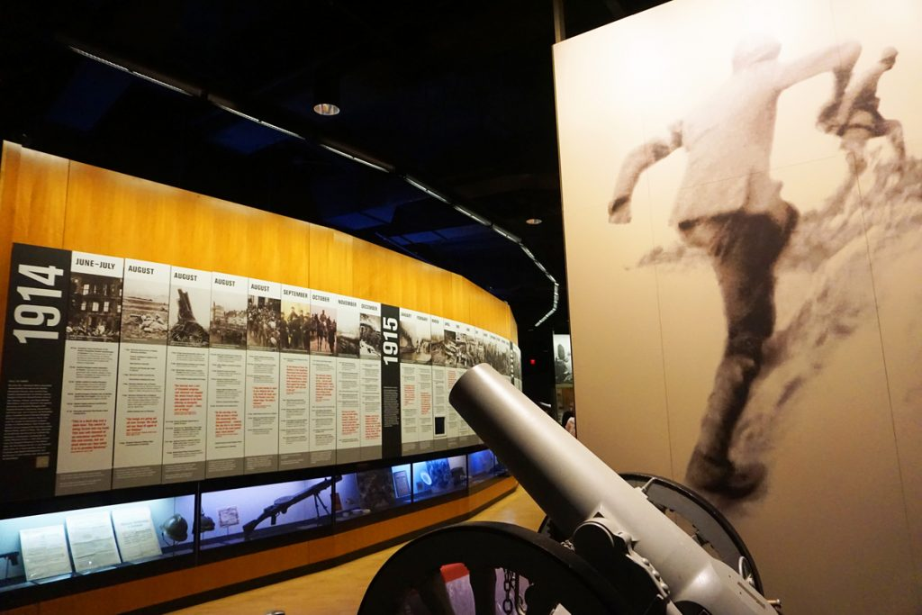 National WWI Museum and Memorial of the United States is located in downtown Kansas City, Missouri