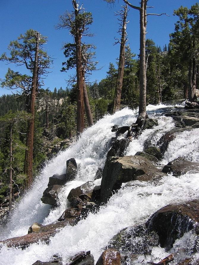Waterfalls at Lake Tahoe