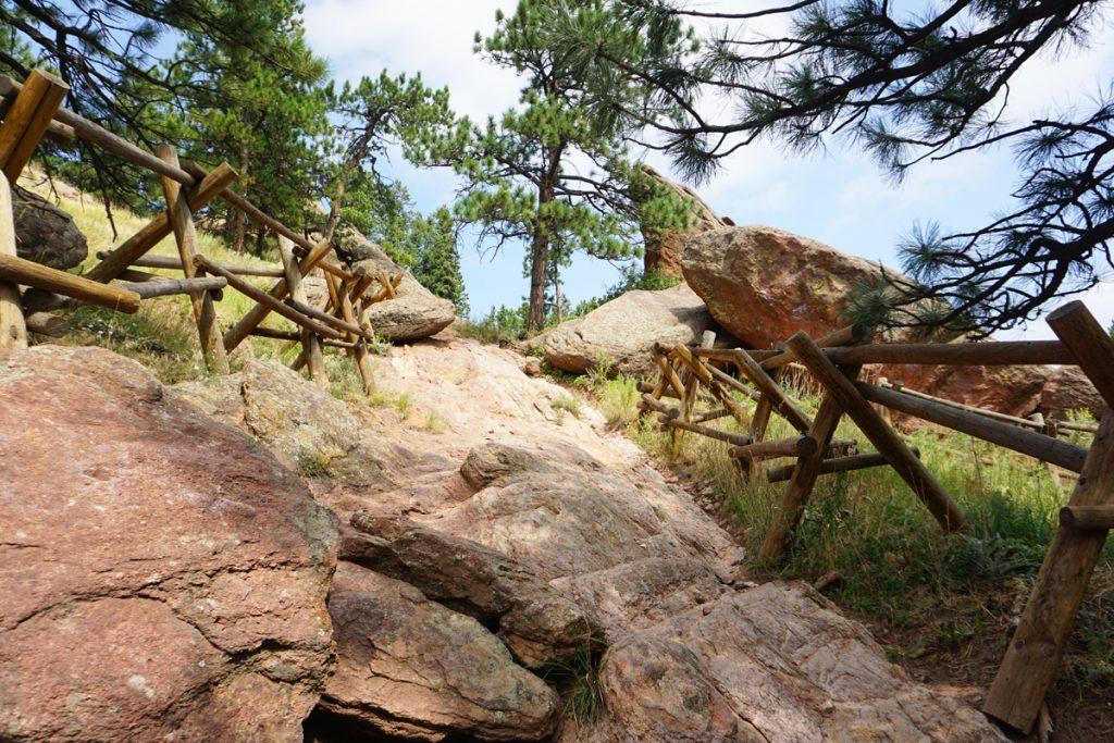 Boulder climbing spot on Flagstaff road