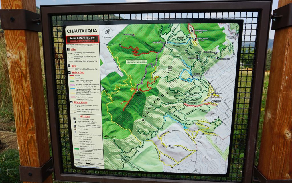 Chautauqua Park Map