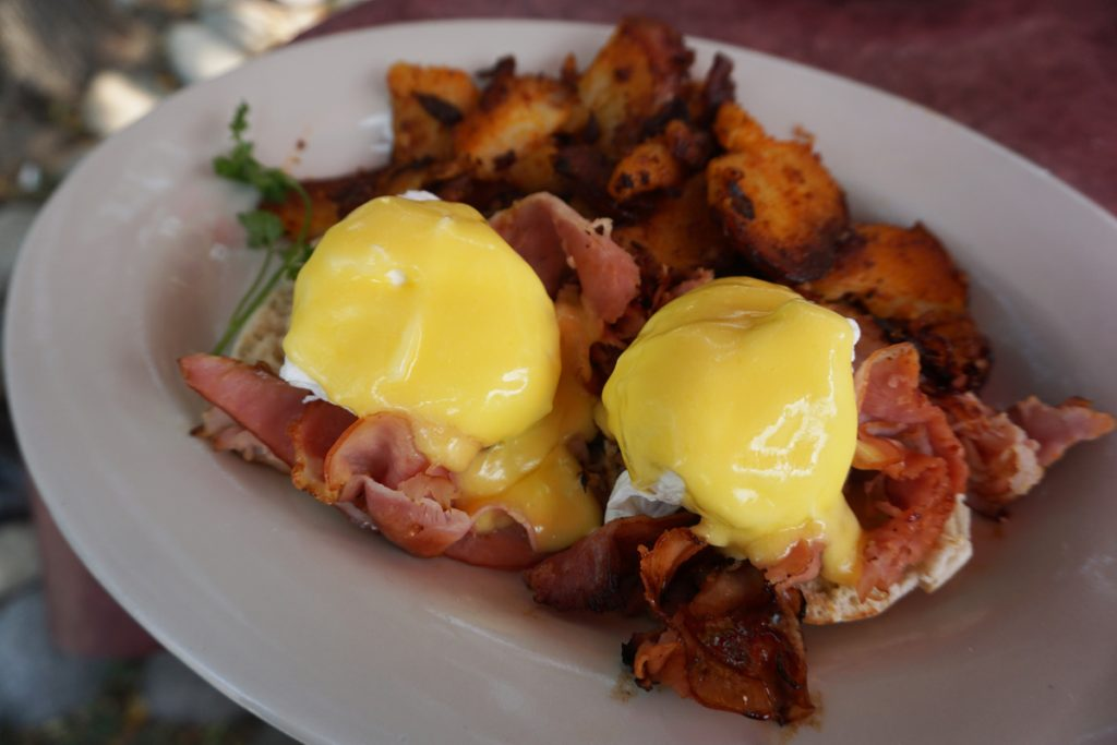 eggs benedict at Lucile's Creole Cafe